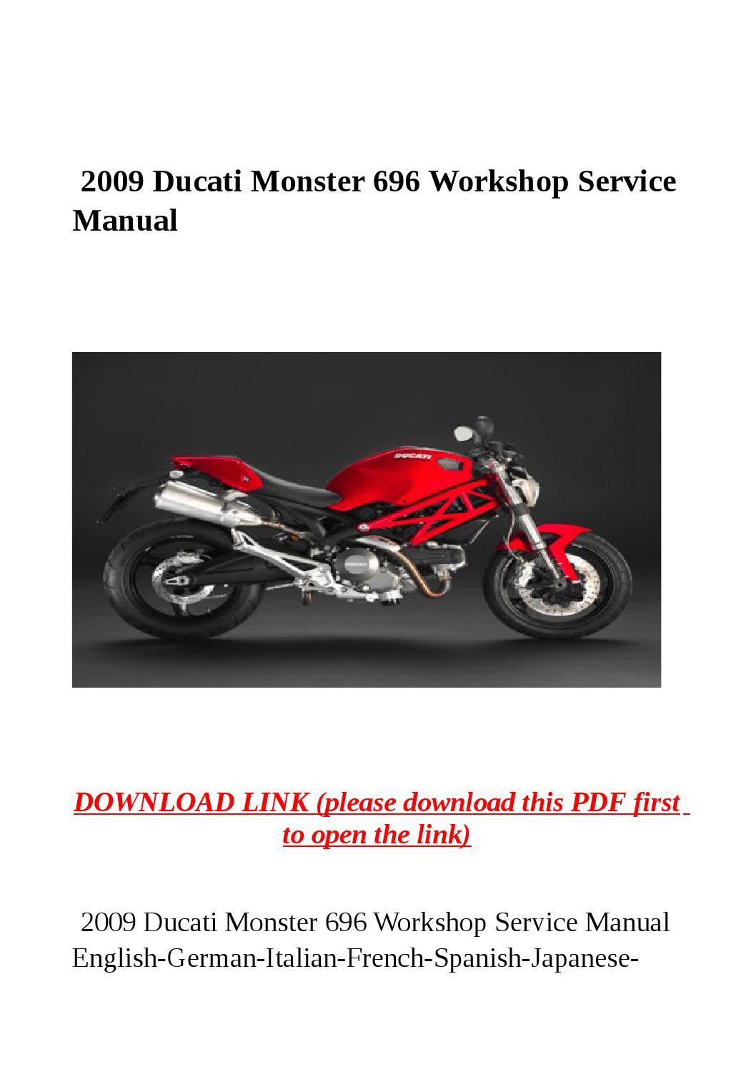 Ducati Monster  User Manual