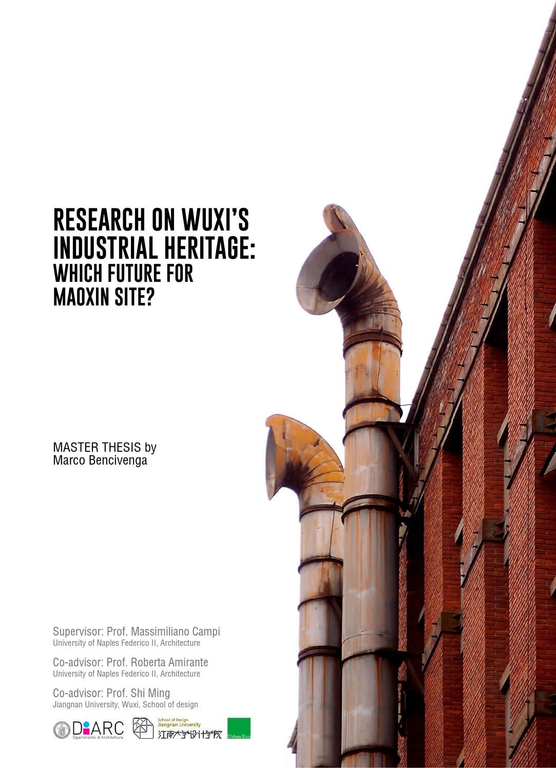 Master Thesis Architecture Research On Wuxi39s Industrial Heritage