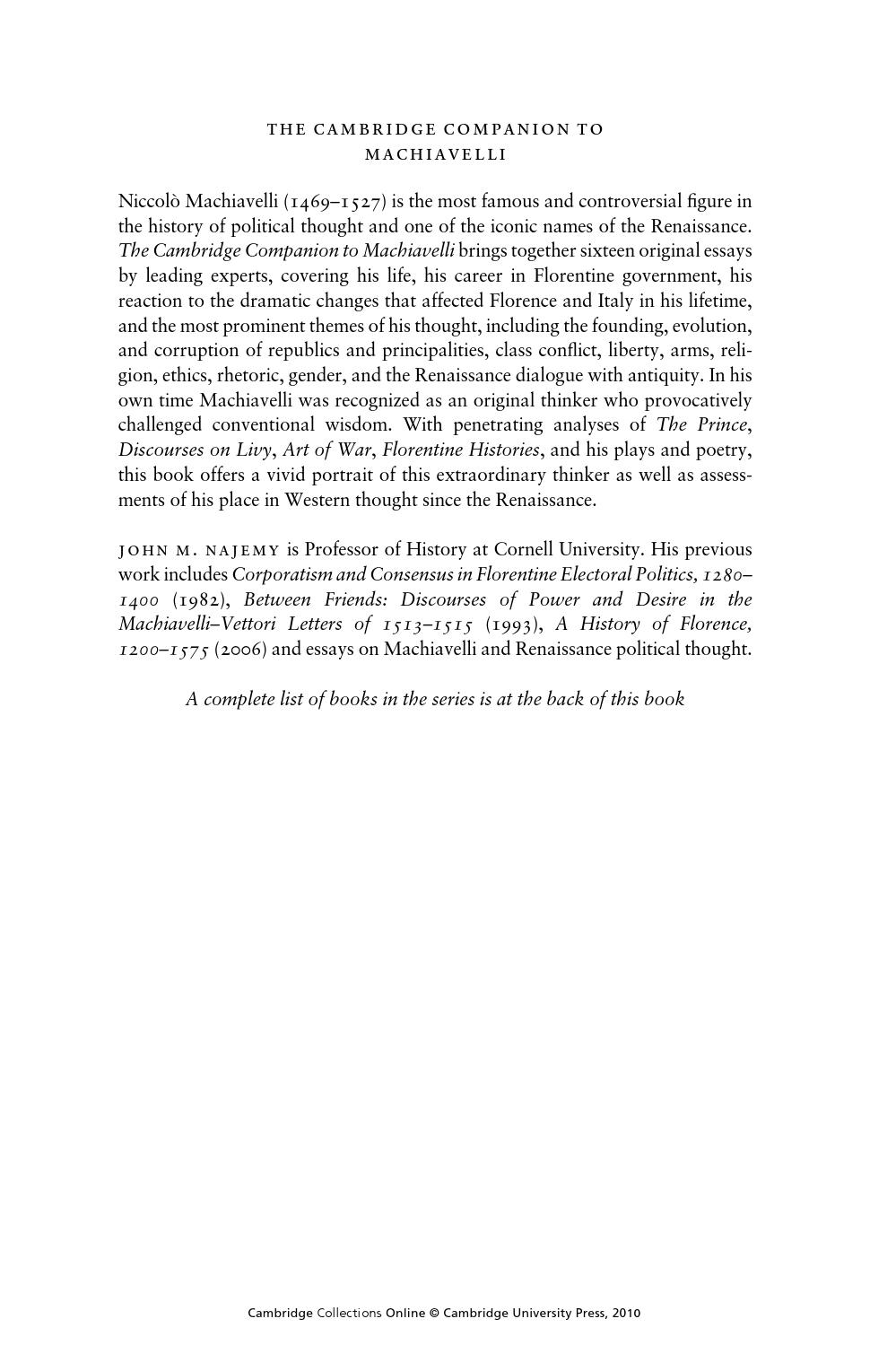 machiavelli essays debate essays sample essay for elementary  the cambridge companion to machiavelli by andrey gerasimov issuu