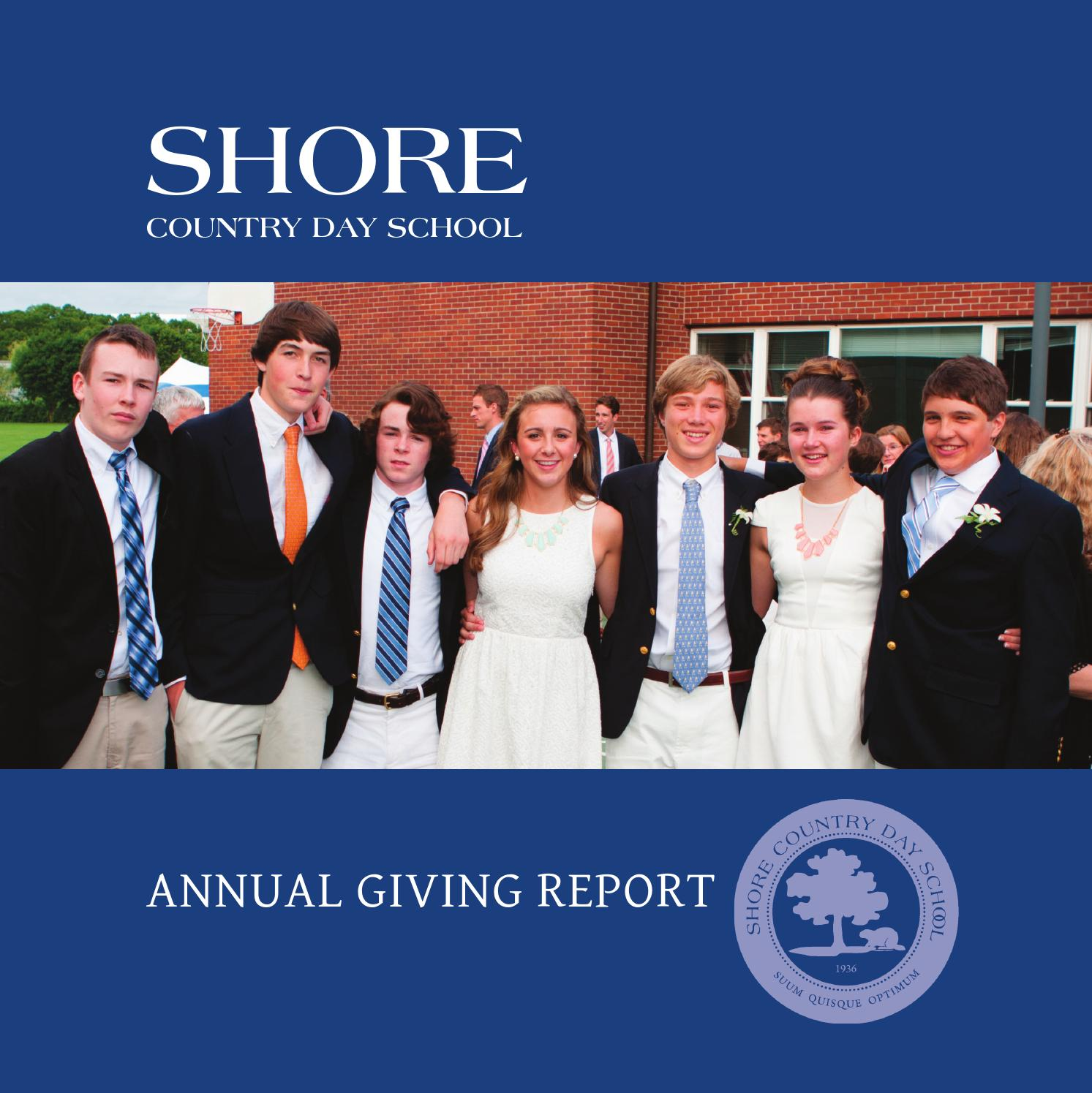 Shore Country Day School Annual Giving Report By Ksheades