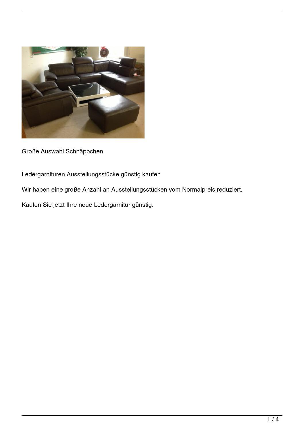 ledergarnitur als ausstellungsst ck g nstig kaufen by. Black Bedroom Furniture Sets. Home Design Ideas