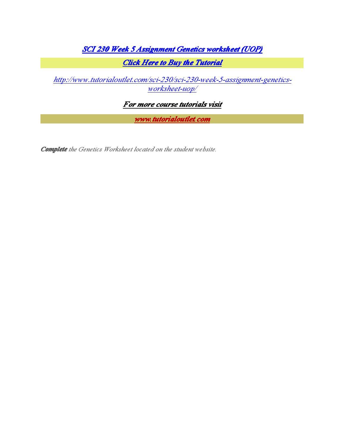 sci 230 scientific method
