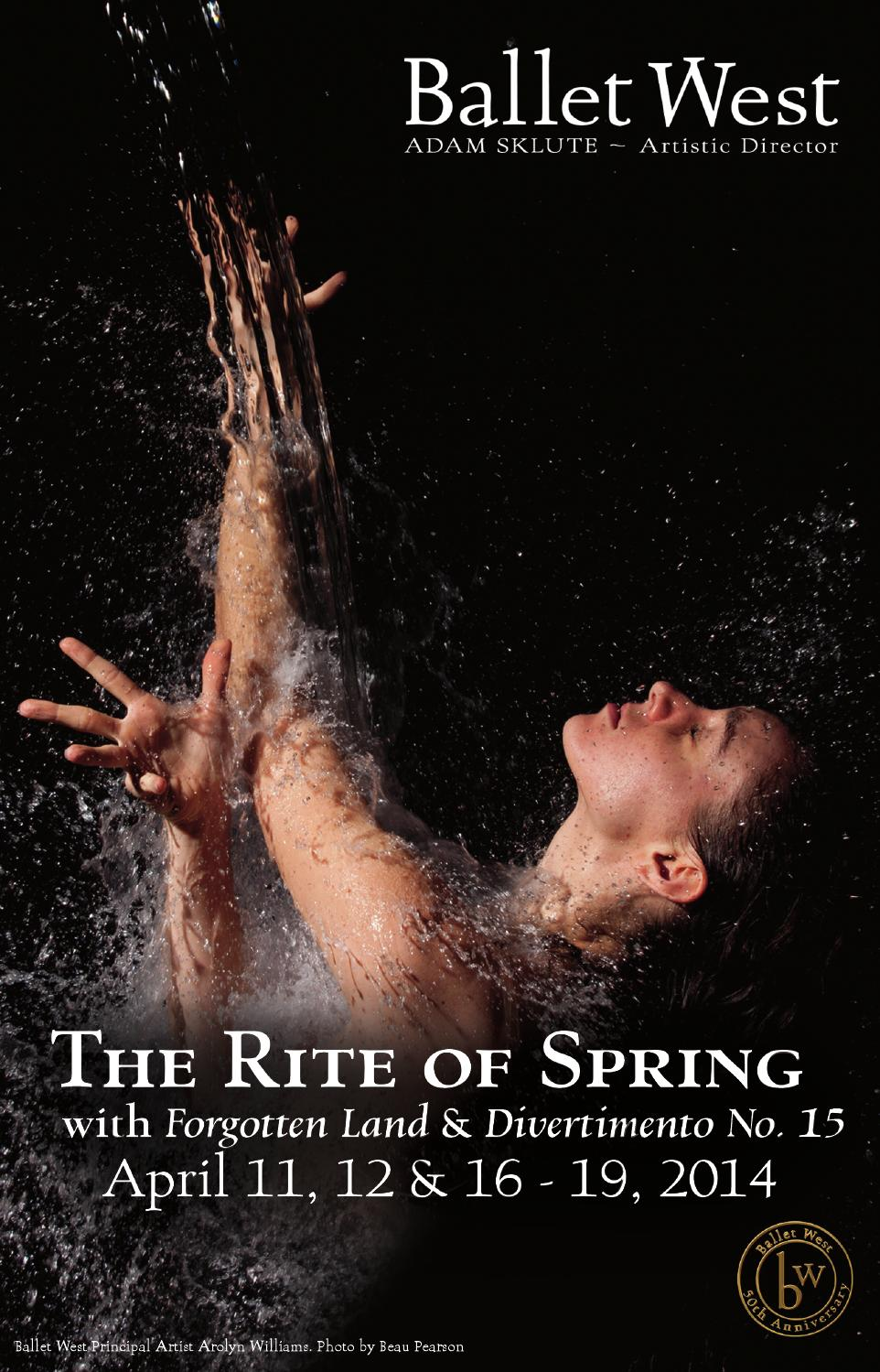 2014 2015 annual report by ballet west issuu ballet west the rite of spring
