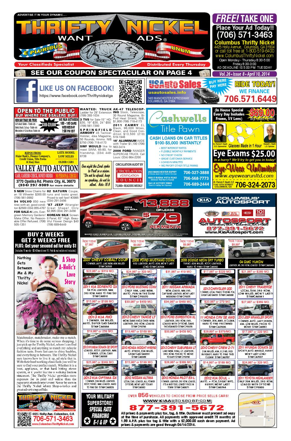 Thrifty Auto Sales >> Columbus 4-10-14 by Columbus Thrifty Nickel - issuu