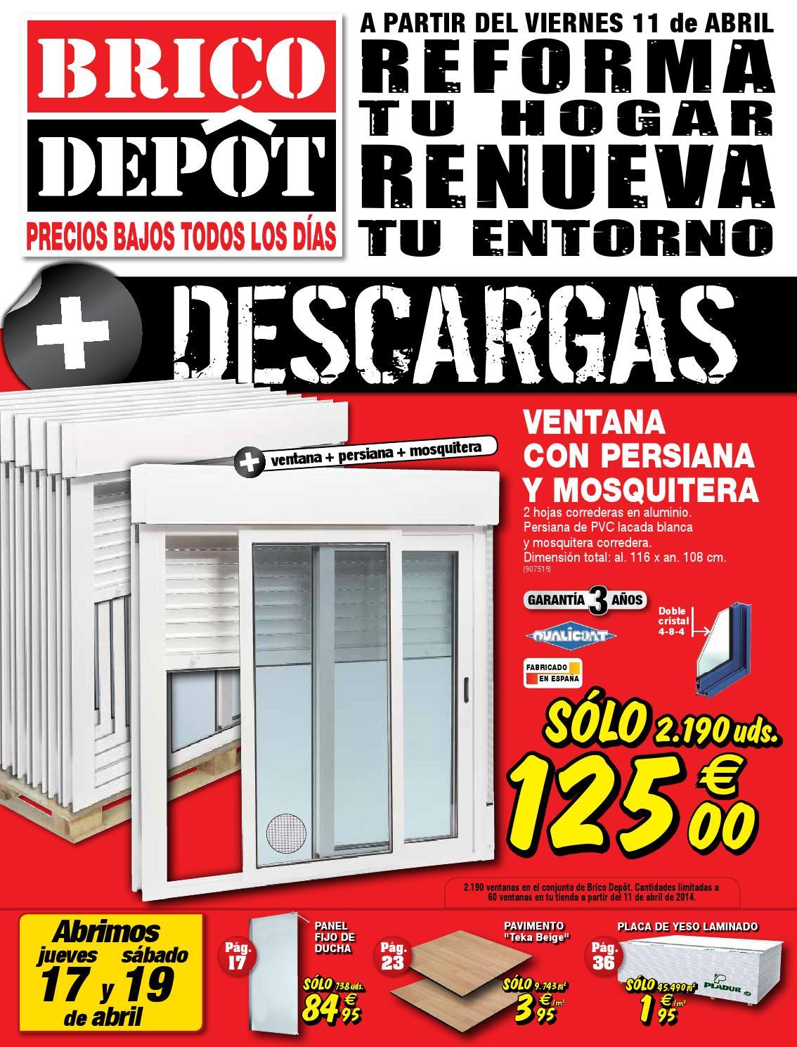 Bricodepot catalogue 11 24abril2014 by catalogopromociones for Motor puerta corredera bricodepot