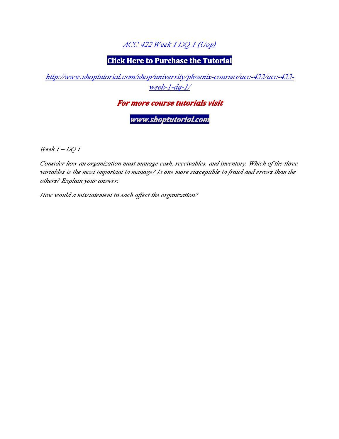 acc 422 week 1 disclosure analysis paper