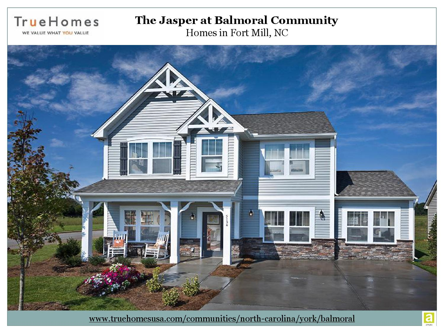 Homes For Sale In Fort Mill Nc At The Jasper Balmoral