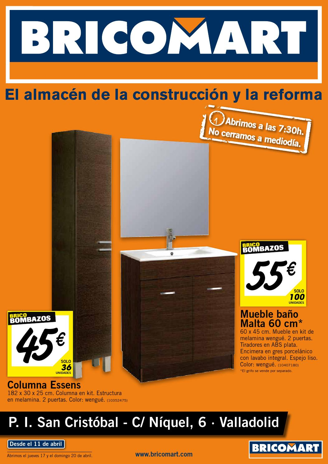 Bricomart folleto valladolid valladolid 07 04 2014 by losdescuentos issuu - Muebles lavabo bricomart ...