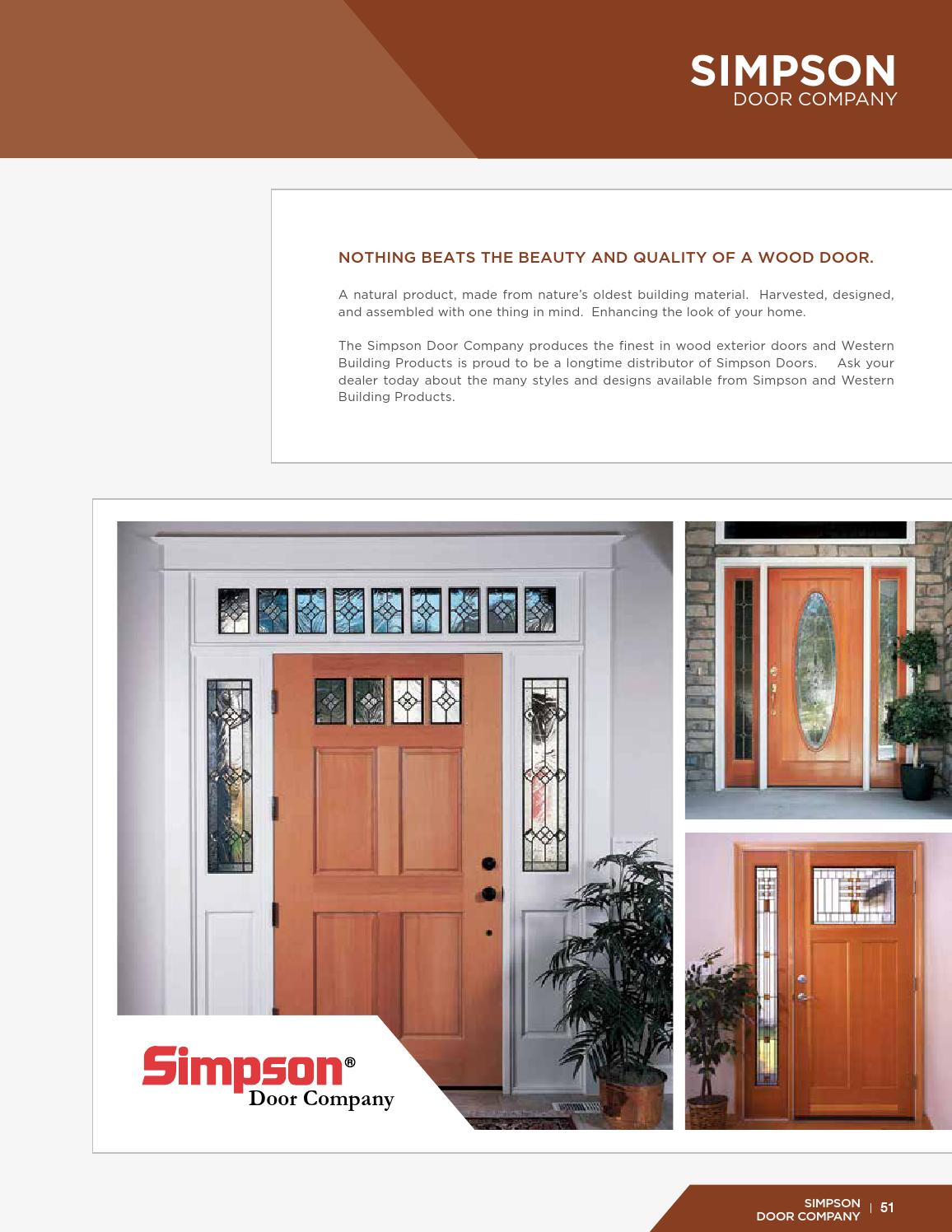 Western Entry System Brochure By Western Building Products Issuu