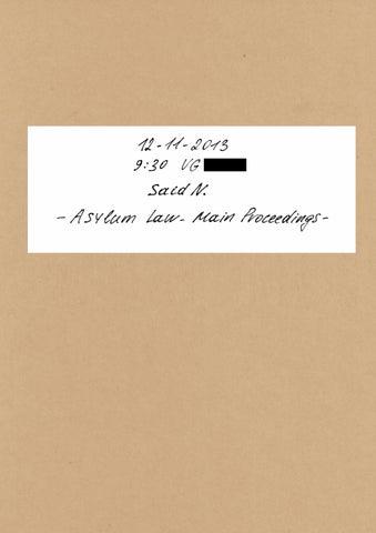 Refugees' Library Vol. 3 - Said N., Somalia (English)