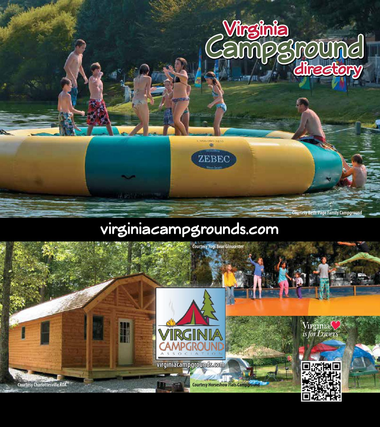 Virginia Campground Directory 2014 By Ags Texas