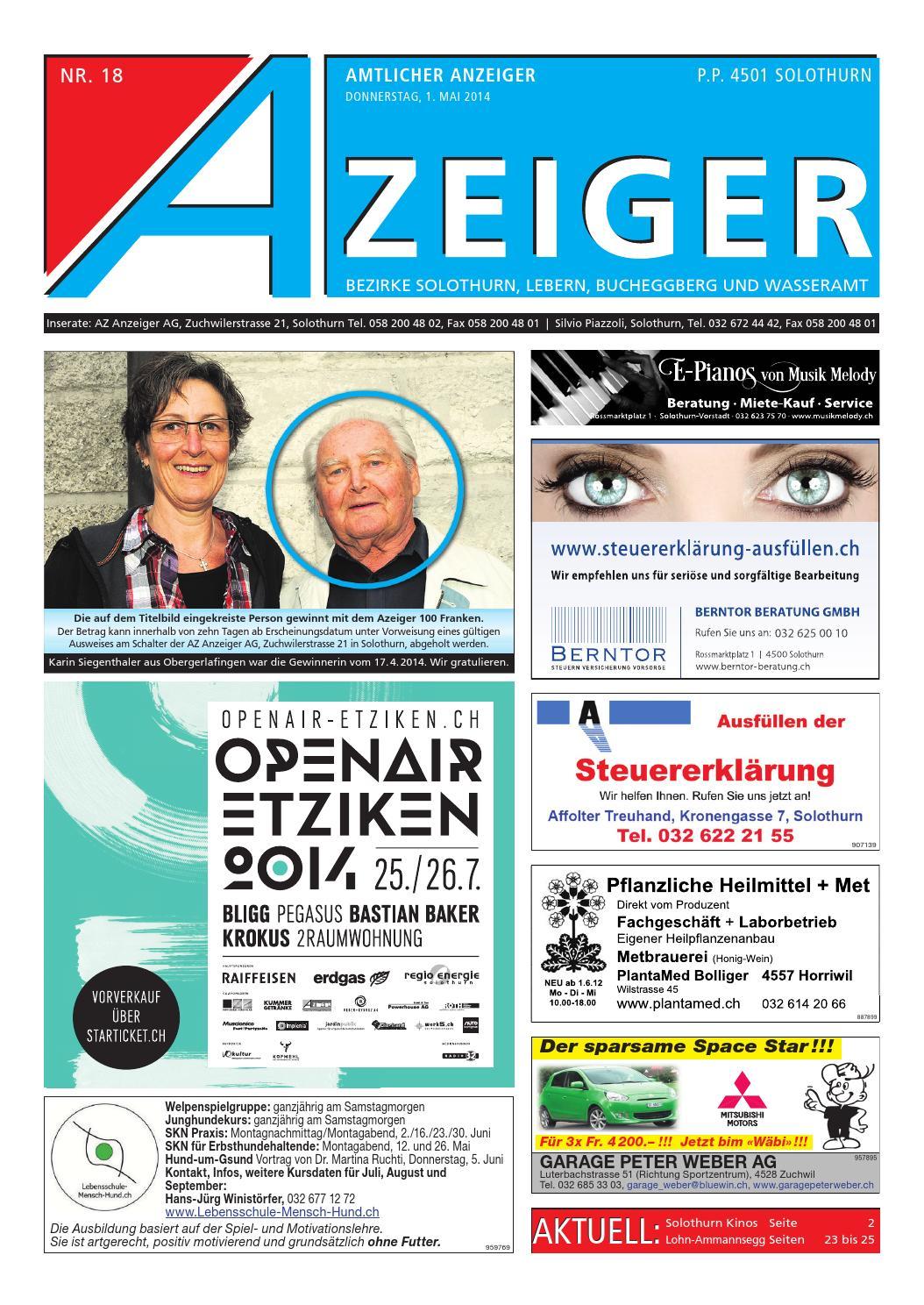 Azeiger 18 2014 By Az Anzeiger Issuu