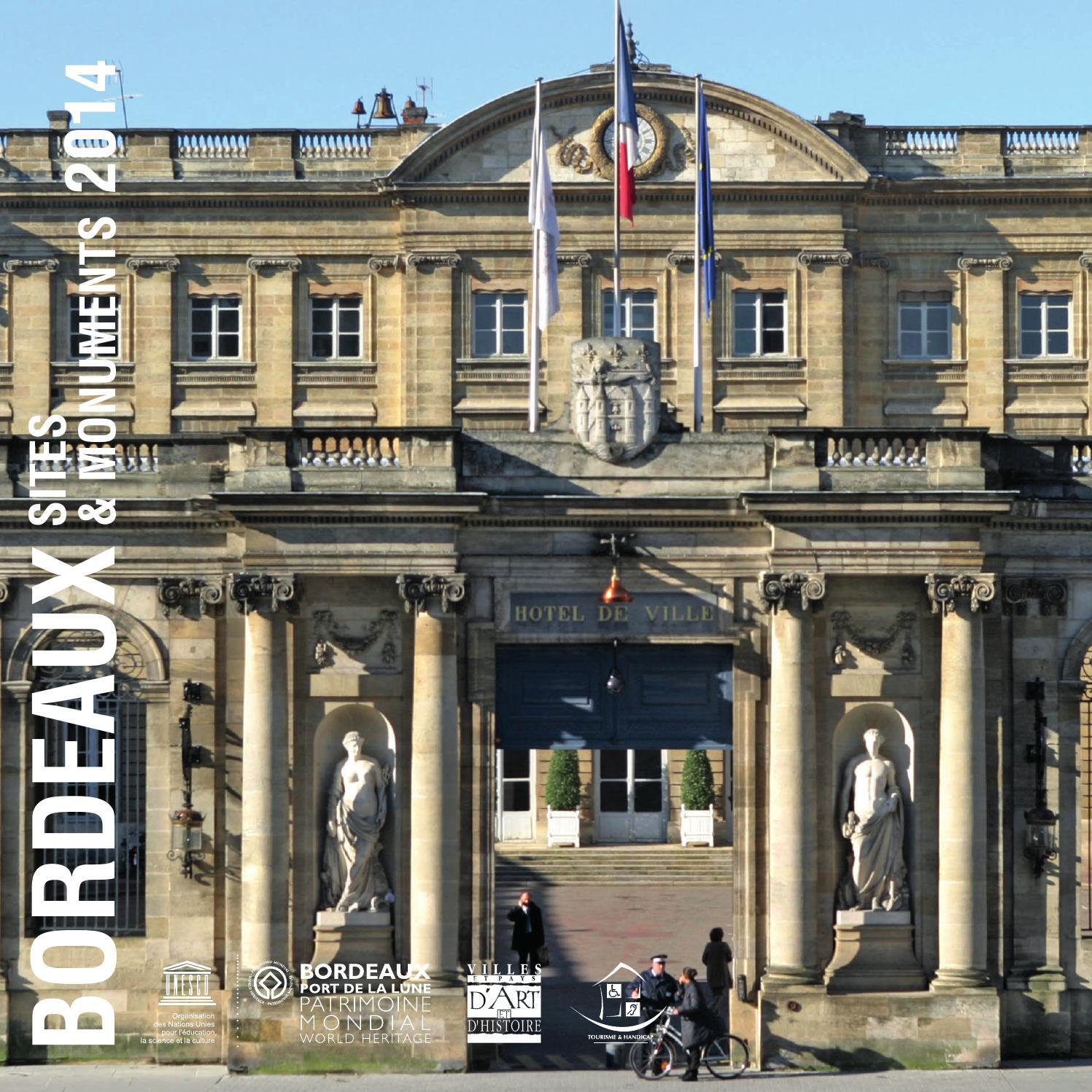 Bordeaux sites monuments 2014 by office de tourisme de - Office de tourisme bordeaux recrutement ...