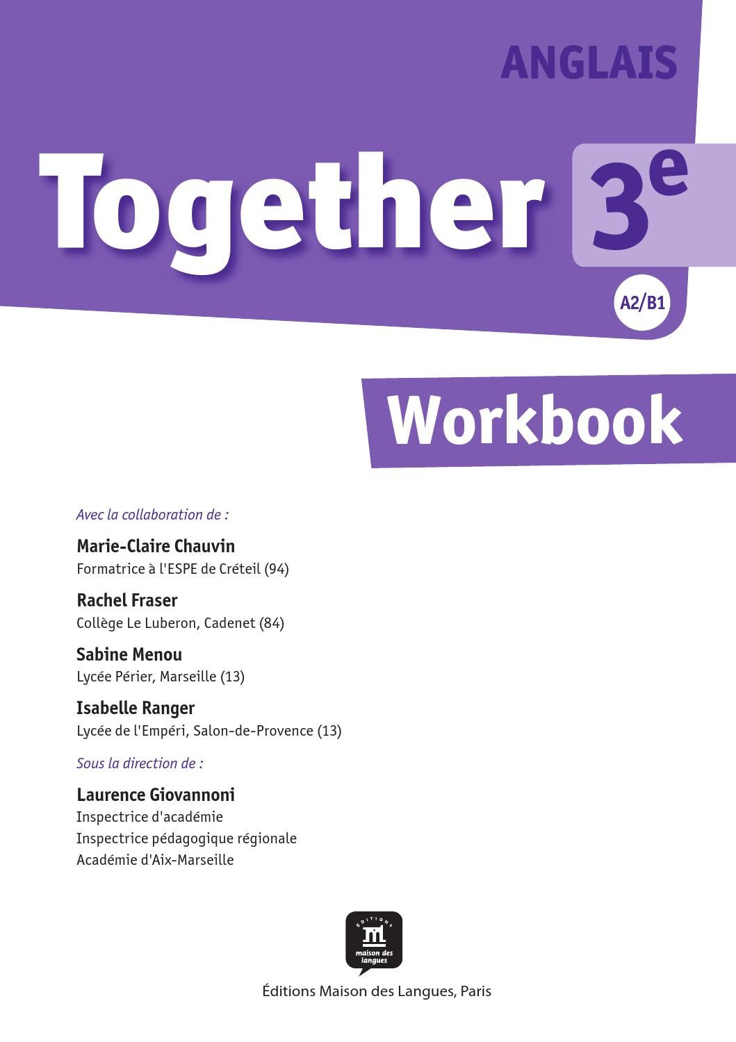 Together 3e workbook ditions maison des langues by - Boulangerie marie blachere salon de provence ...