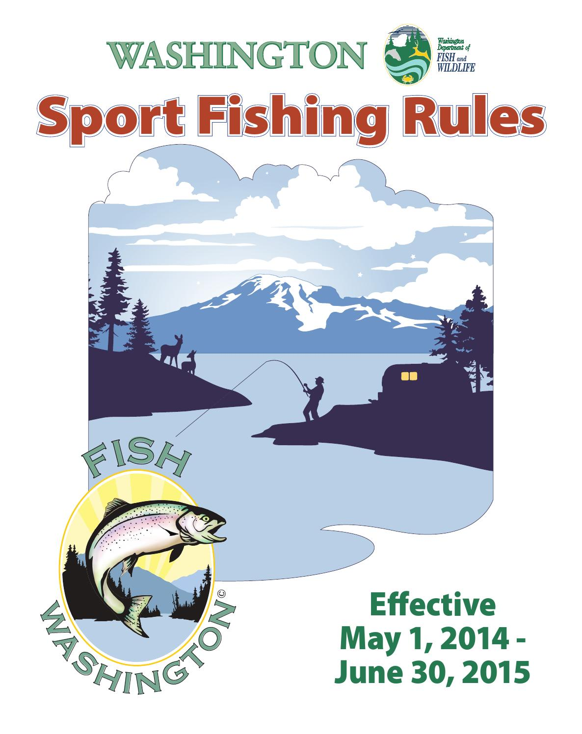Washington sport fishing rules 2014 2015 by whidbeyweekly for Wdfw fishing regulations