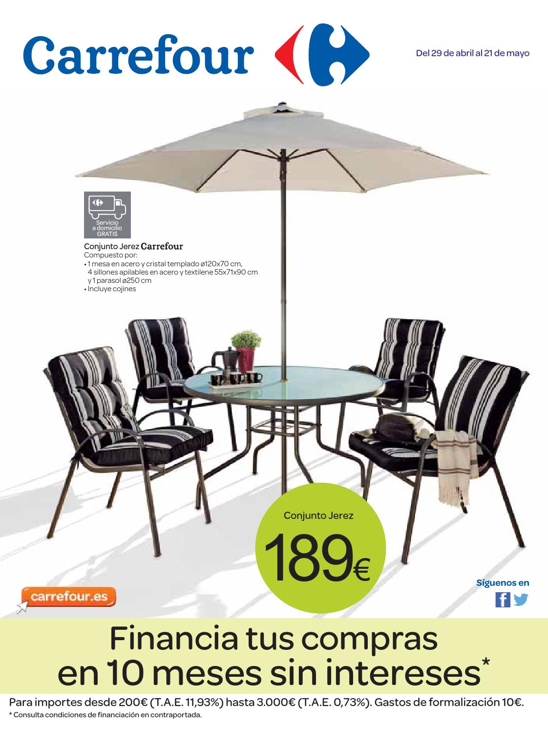Catalogo carrefour online 2014 by carrefour online issuu for Mesas y sillas de jardin baratas