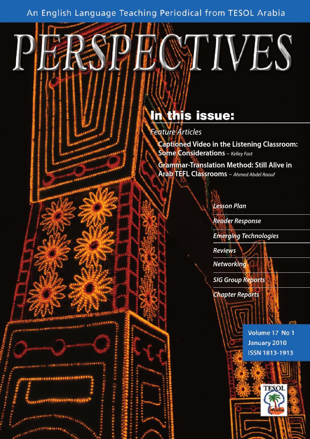2010 jan by tesol arabia perspectives issuu