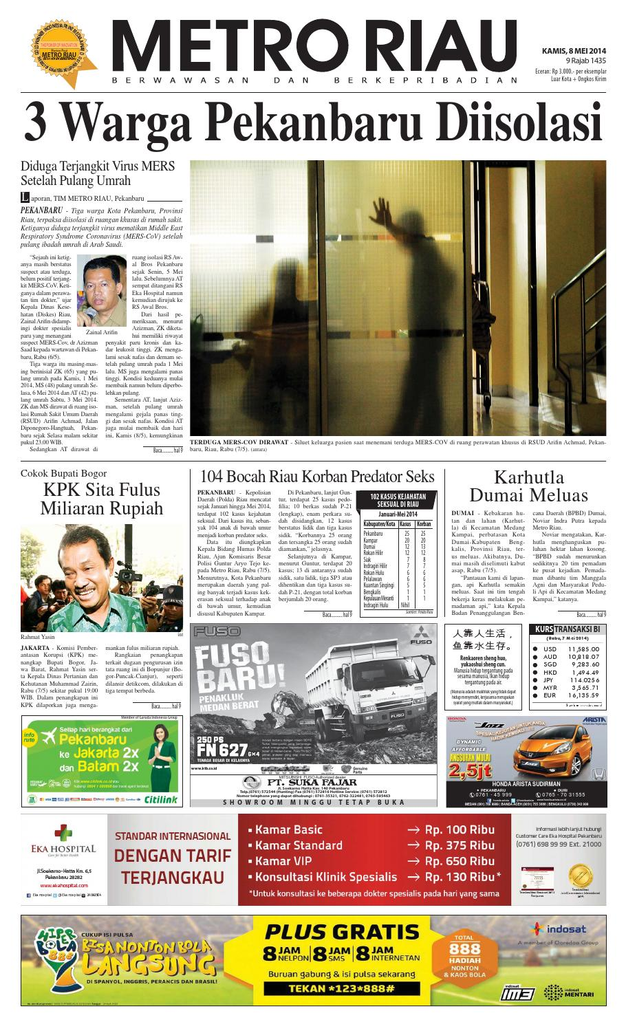 Image Result For By Harian Pagi Metro Riau Issuu