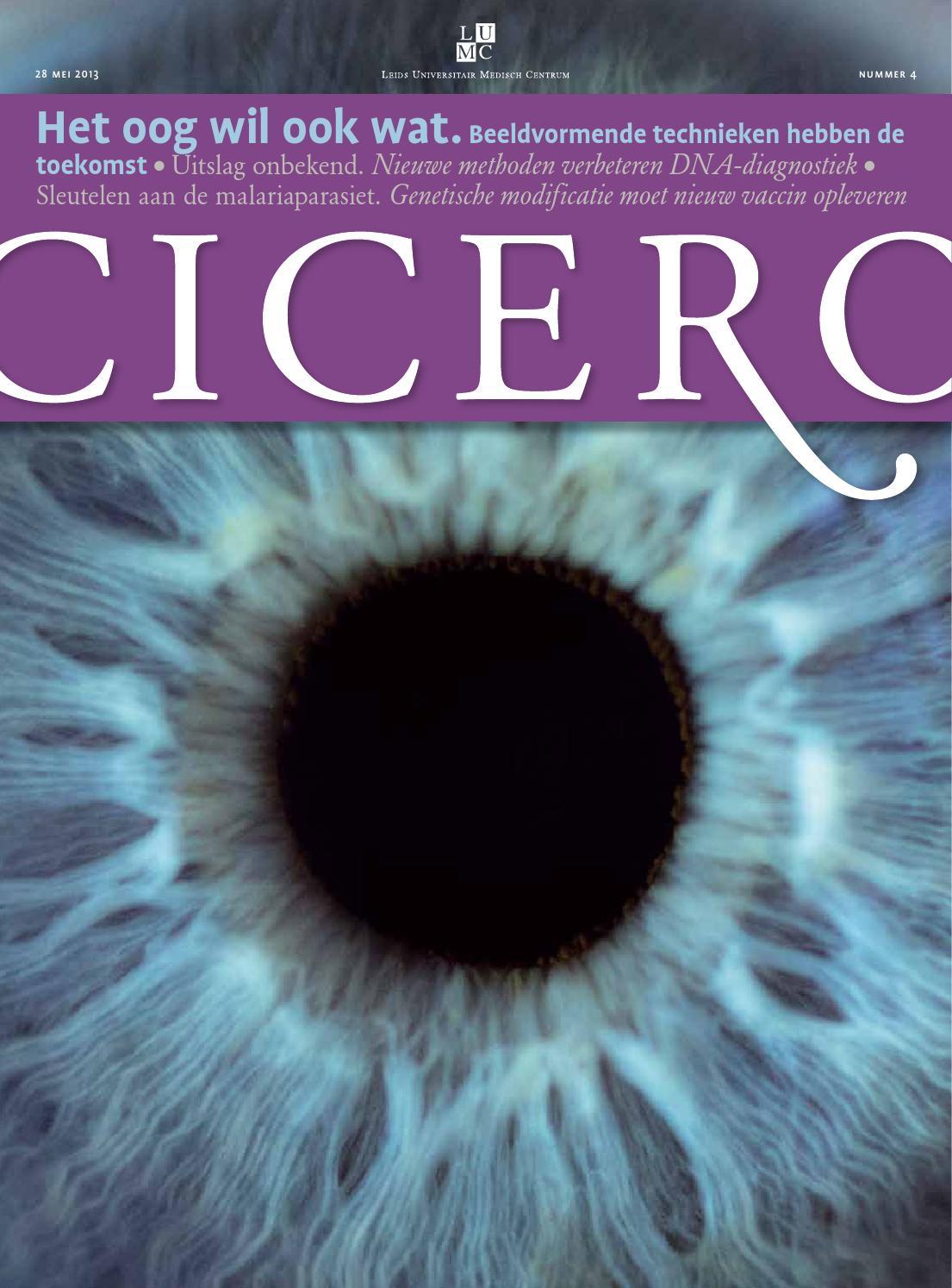 Cicero (2014, nummer 4) by Leids Universitair Medisch Centrum - issuu