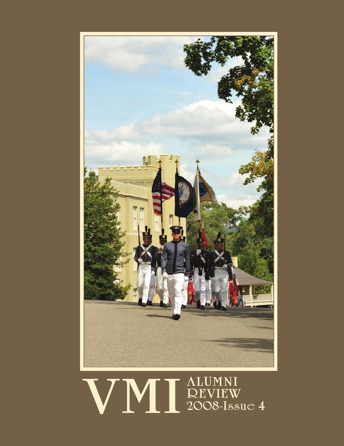 Alumni Review 2008 Issue 4 By Vmi Alumni Agencies Issuu