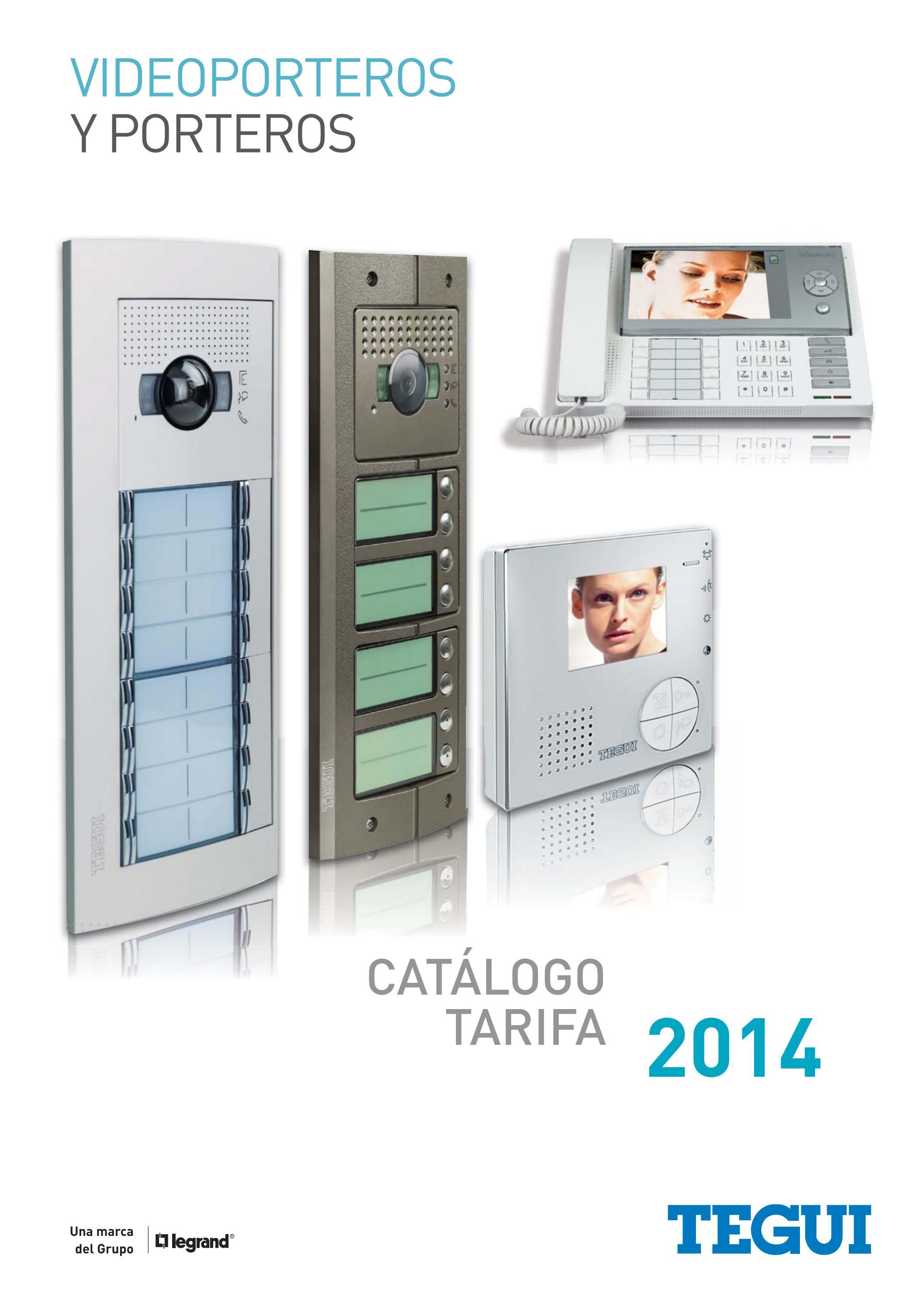 Catalogo tarifa videoporteros porteros tegui 2014 by gomez - Precio de videoporteros ...