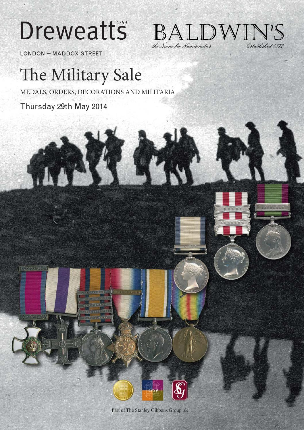 The military sale 29 may 2014 by a h baldwin sons for 11 adelphi terrace london wc2n 6bj