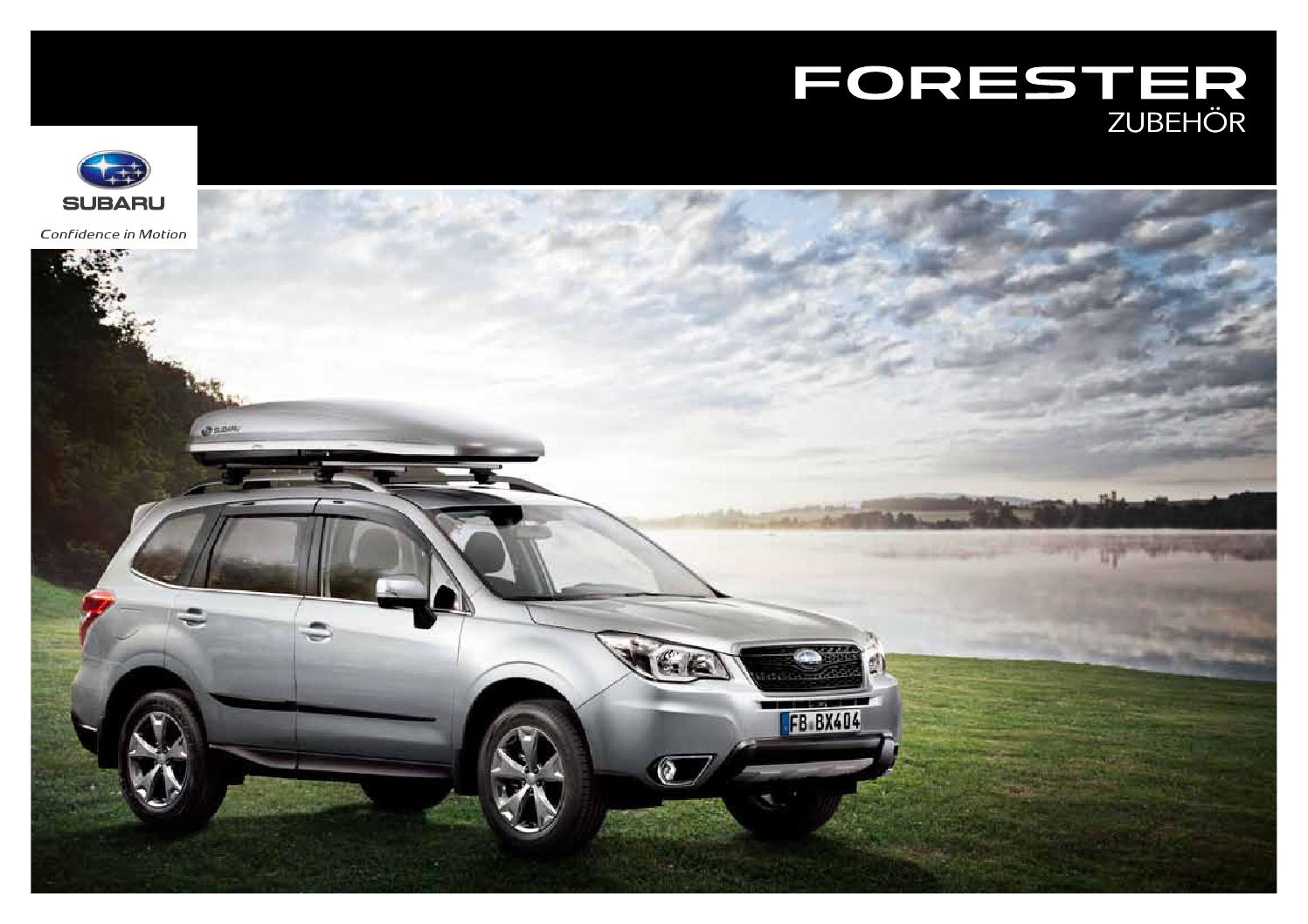 subaru forester zubeh r by springer fachmedien m nchen. Black Bedroom Furniture Sets. Home Design Ideas
