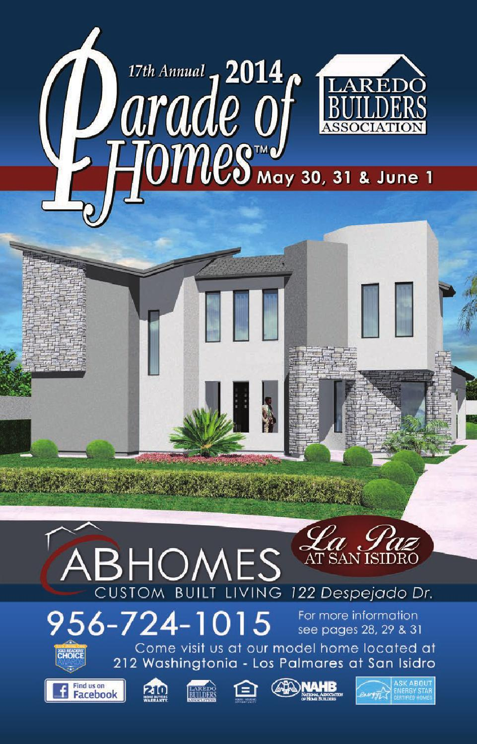2014 parade of homes guidebook by parade of homes laredo for Laredo home builders