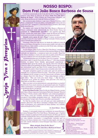 [Igreja Viva e Peregrina – Maio/Junho 2014]