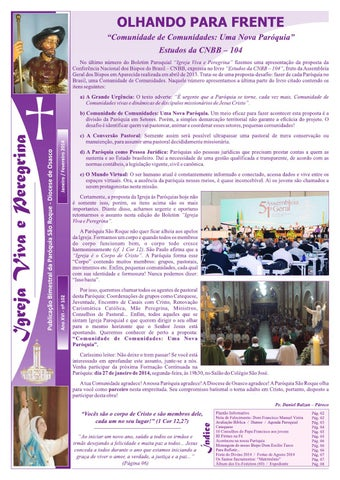 [Igreja Viva e Peregrina – Janeiro/Fevereiro 2014]