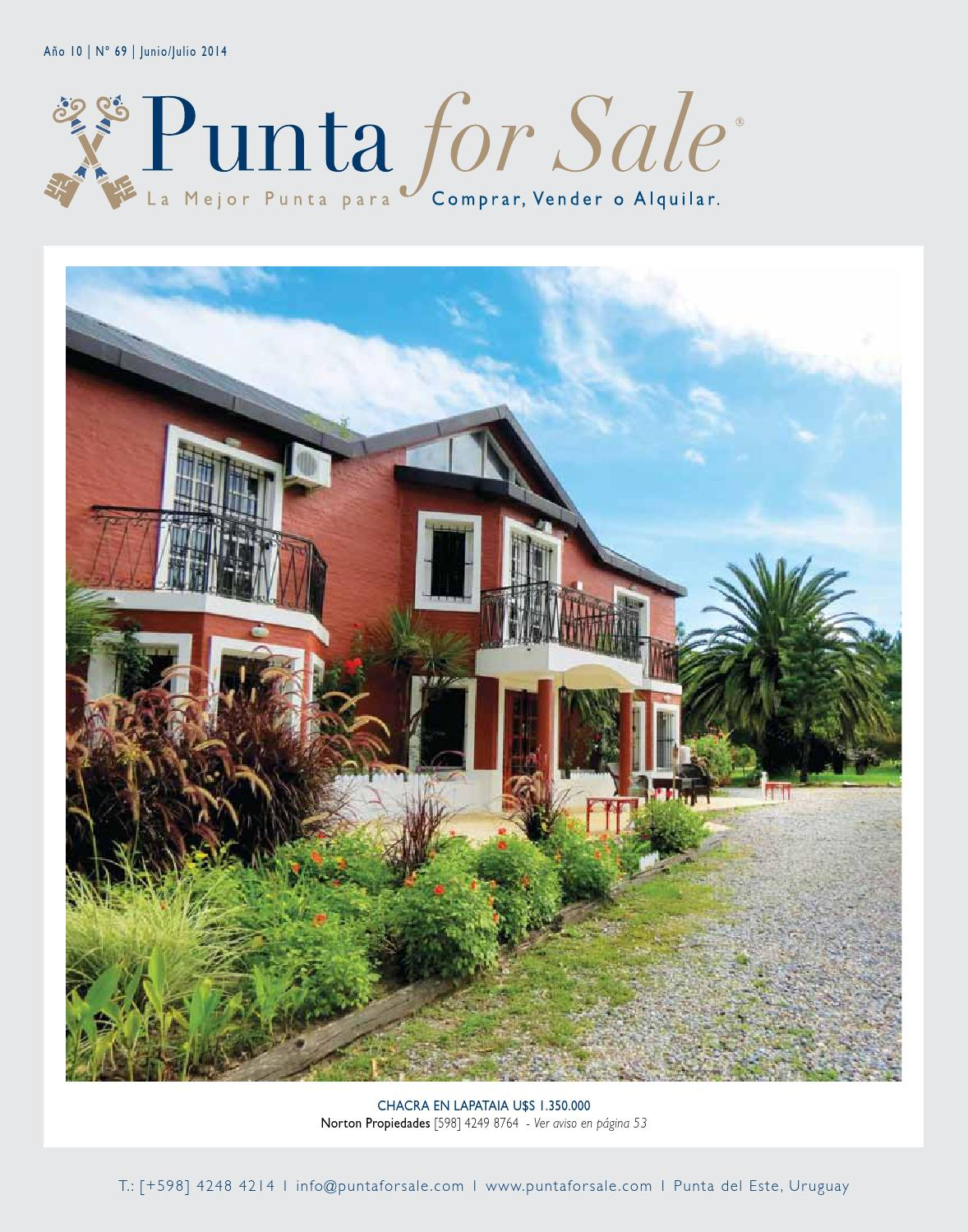 Revista de Real Estate Punta For Sale, edición Junio - Julio 2014