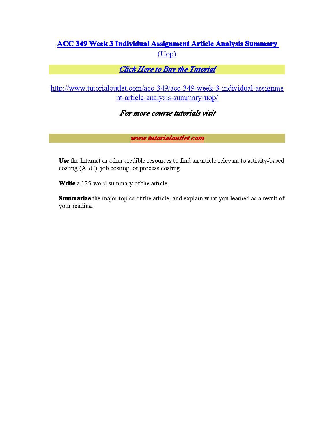 ACC 349 PAPER Technology levels / acc349paper.com