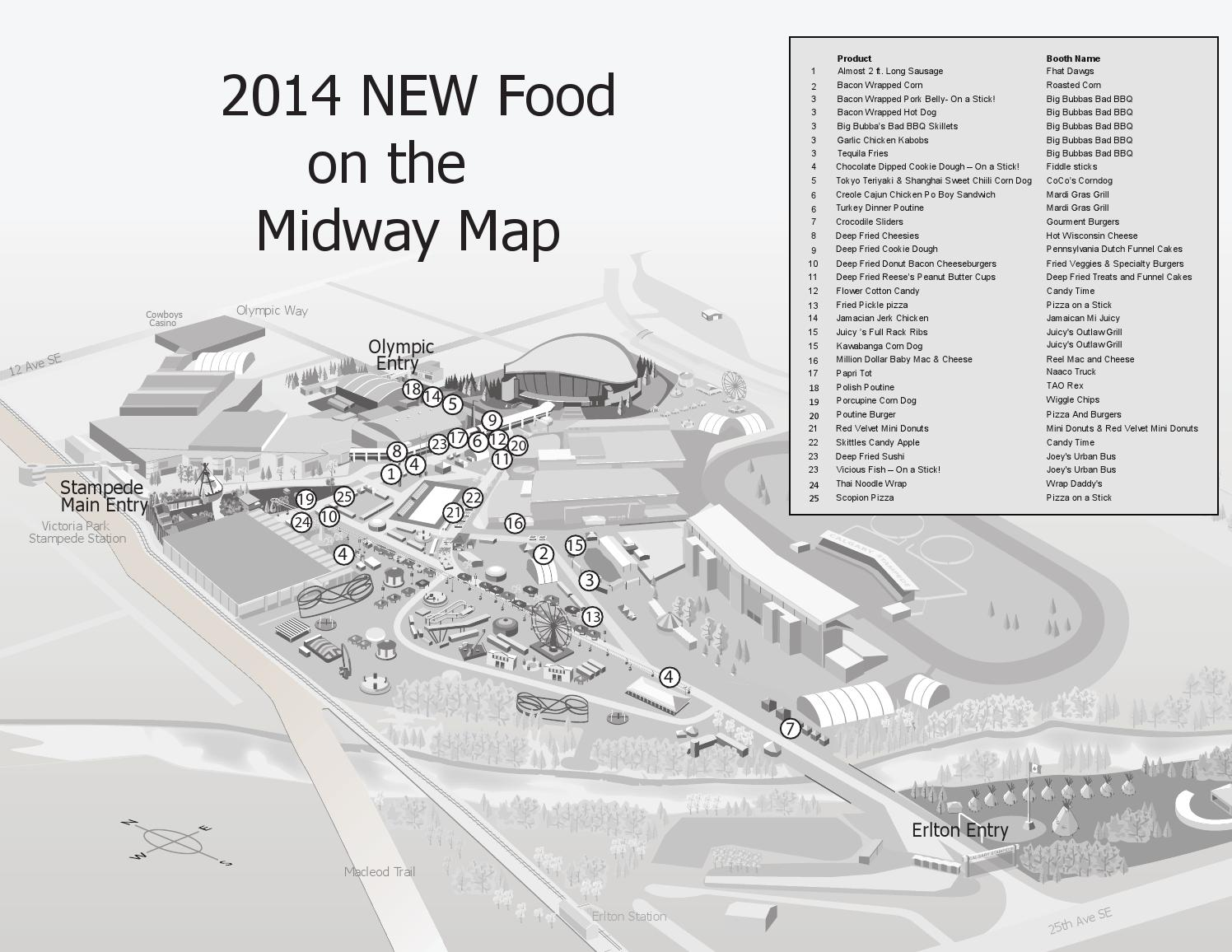 Issuu 2014 Calgary Stampede New Food Map By Nonfiction