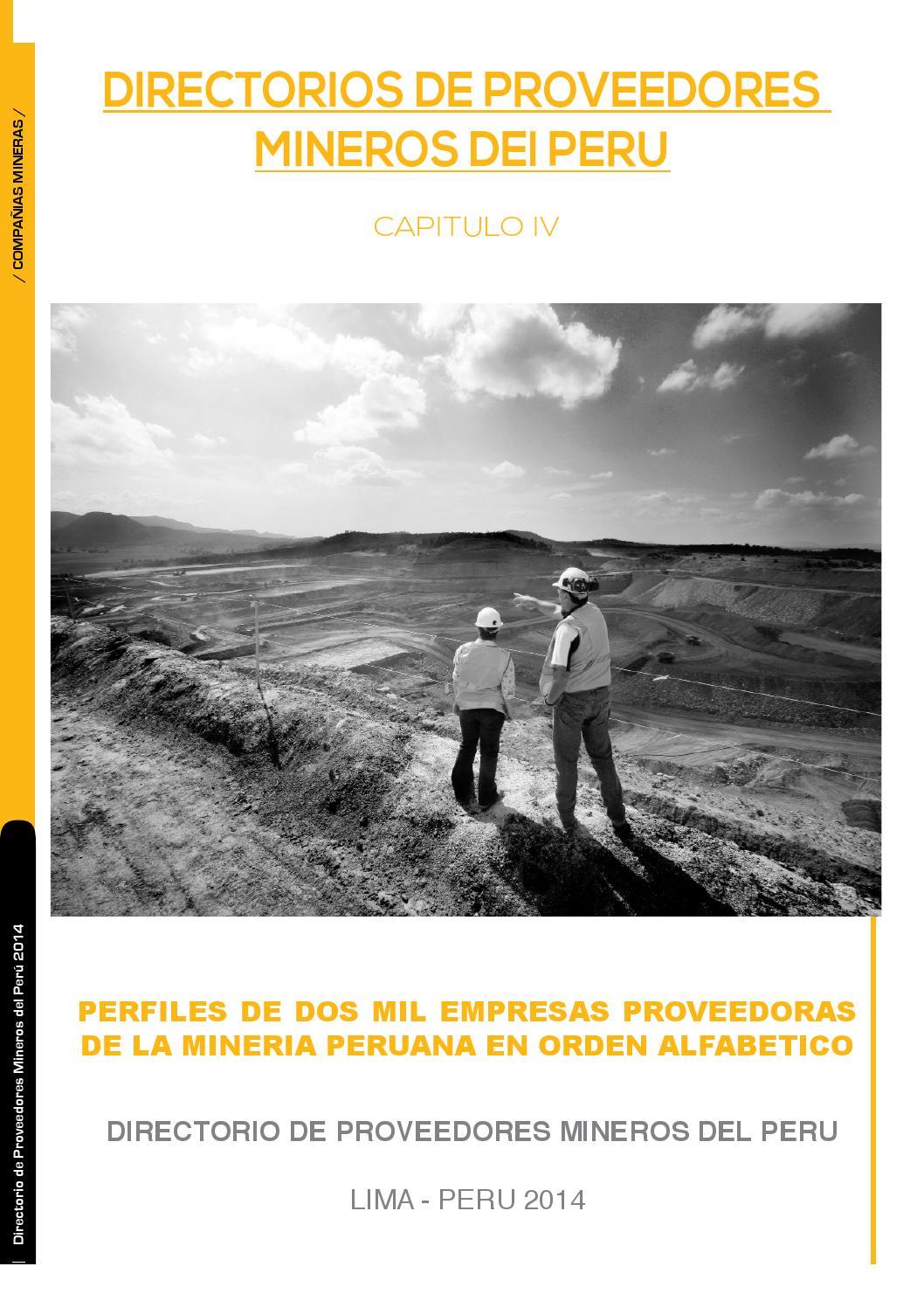 Directorio De Proveedores Mineros By Mineria Del Peru Issuu