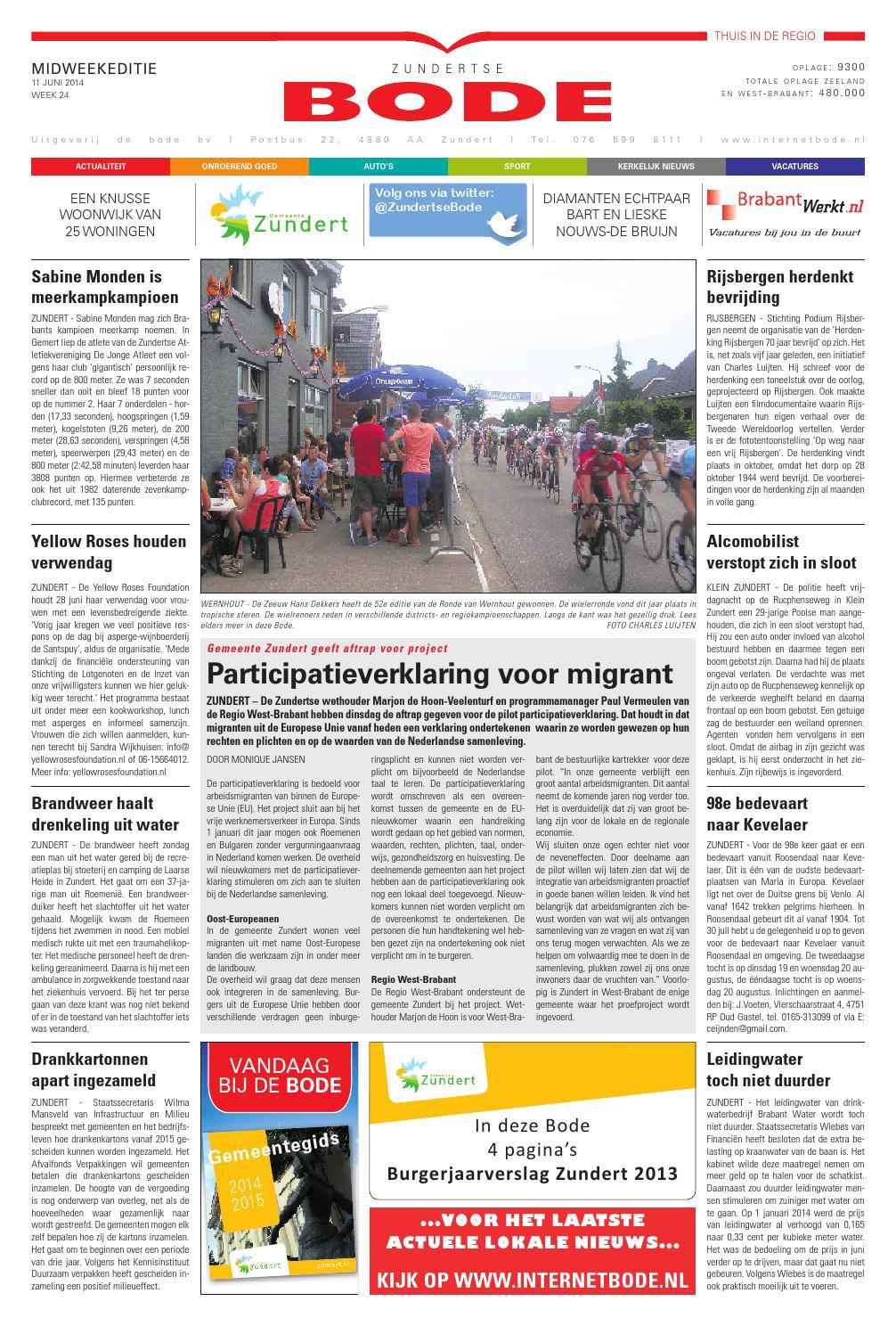 Dz 20140611 by Uitgeverij de Bode - issuu