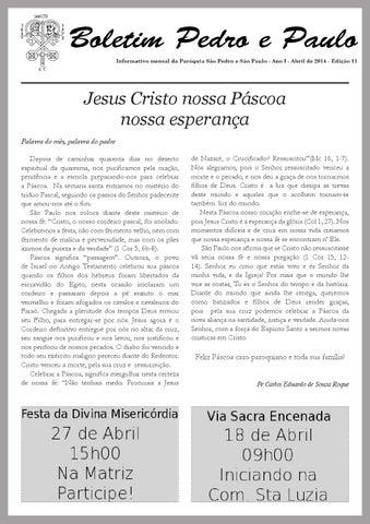 [Boletim Pedro e Paulo Abril 2014]