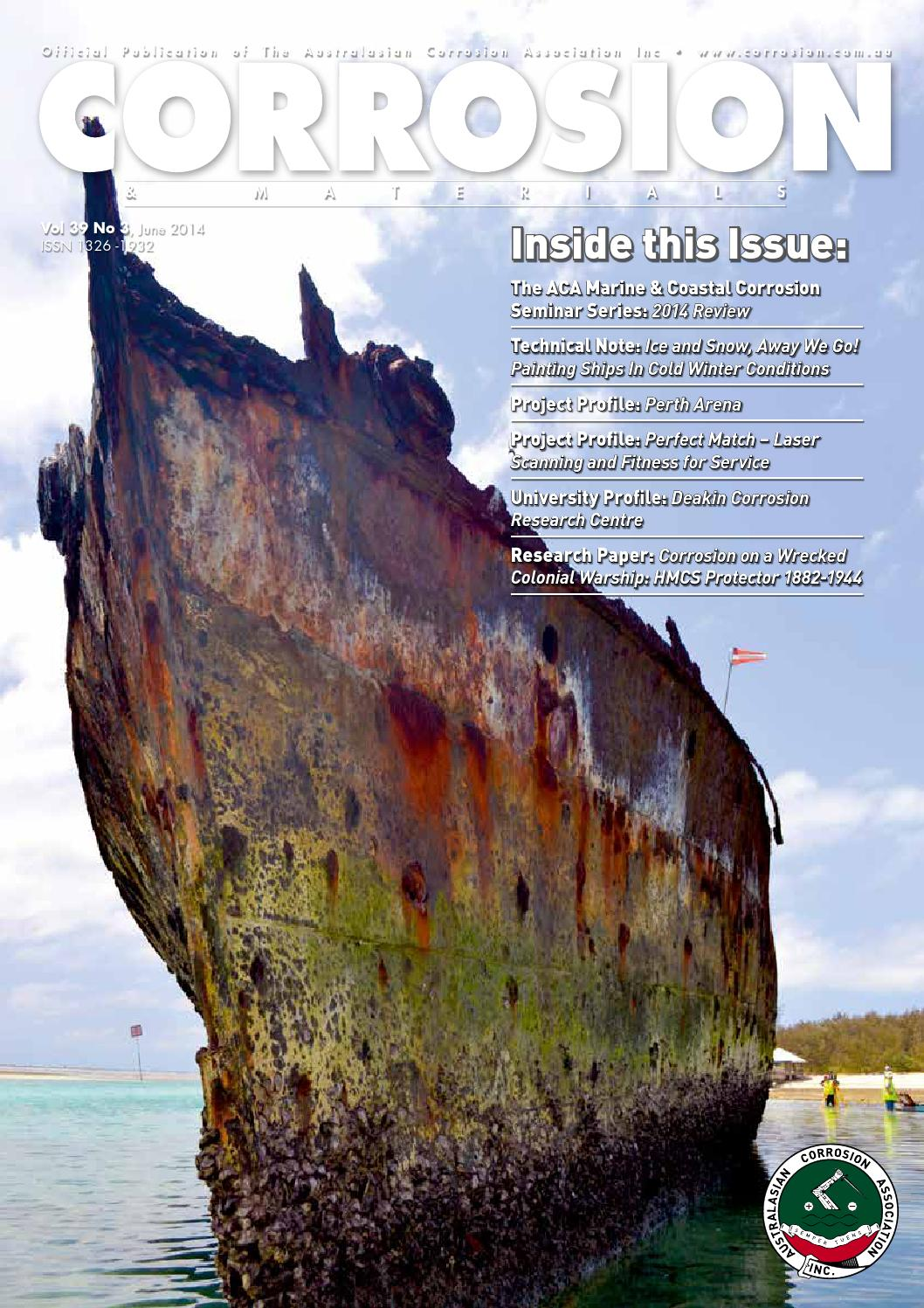Corrosion Amp Materials June 2014 By Australasian Corrosion