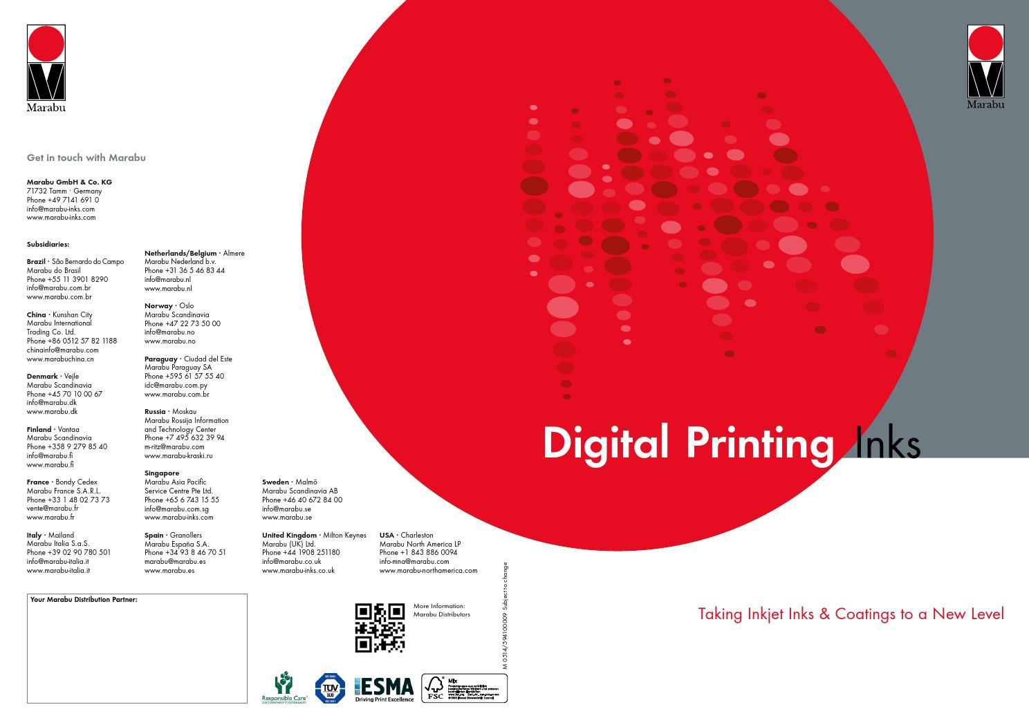 brochure digital printing inks by marabu gmbh co kg issuu. Black Bedroom Furniture Sets. Home Design Ideas