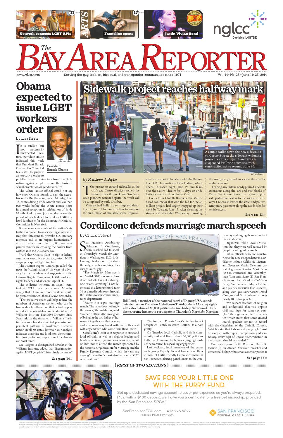 Bay Area Reporter : June edition of the bay area reporter by