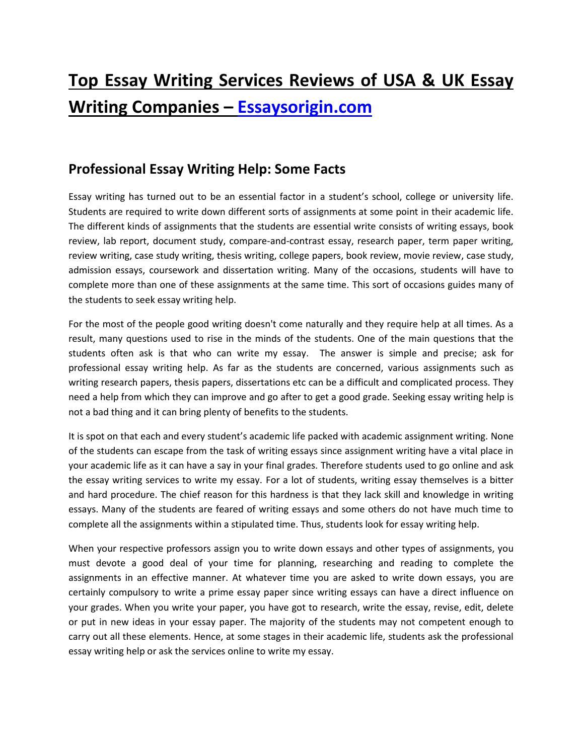 top essay writing companies