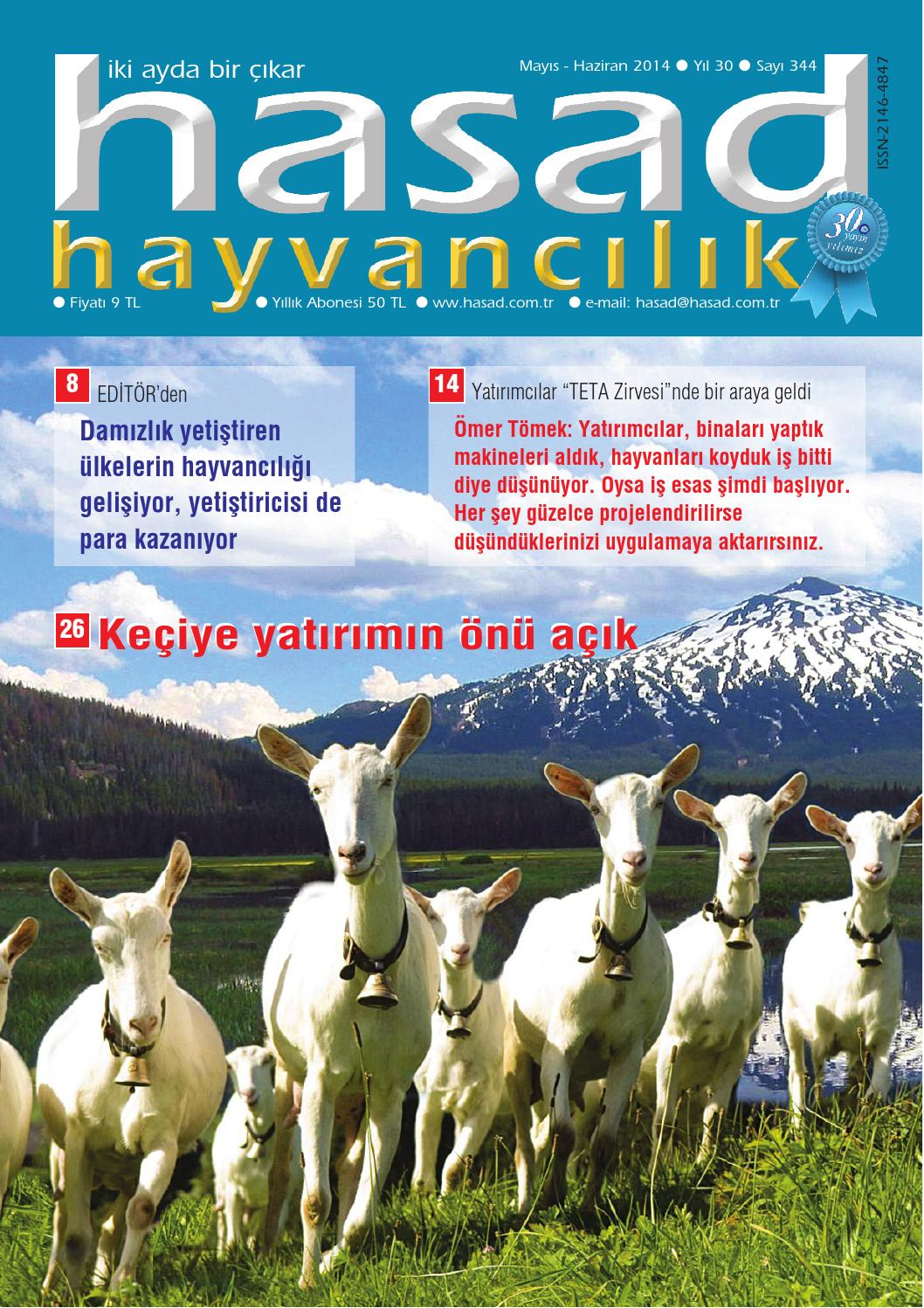 Hasad Hayvancilik Mayis 2014 by Hasad Yayıncılık - issuu