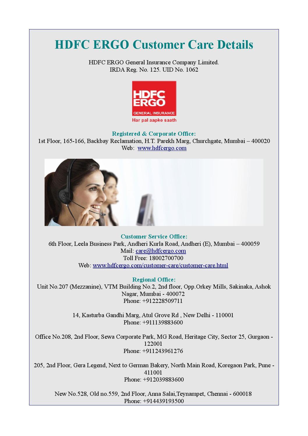 hdfc customer care toll free delhi