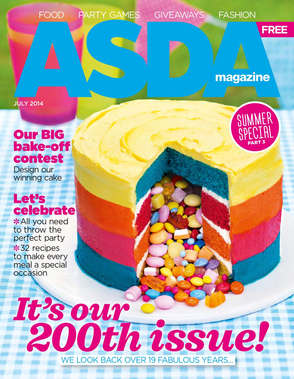 Asda Design Your Own Photo Cake : Asda Magazine - July 2014 by Asda - issuu