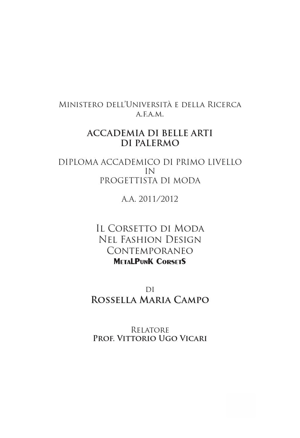 tesi by rossella campo issuu