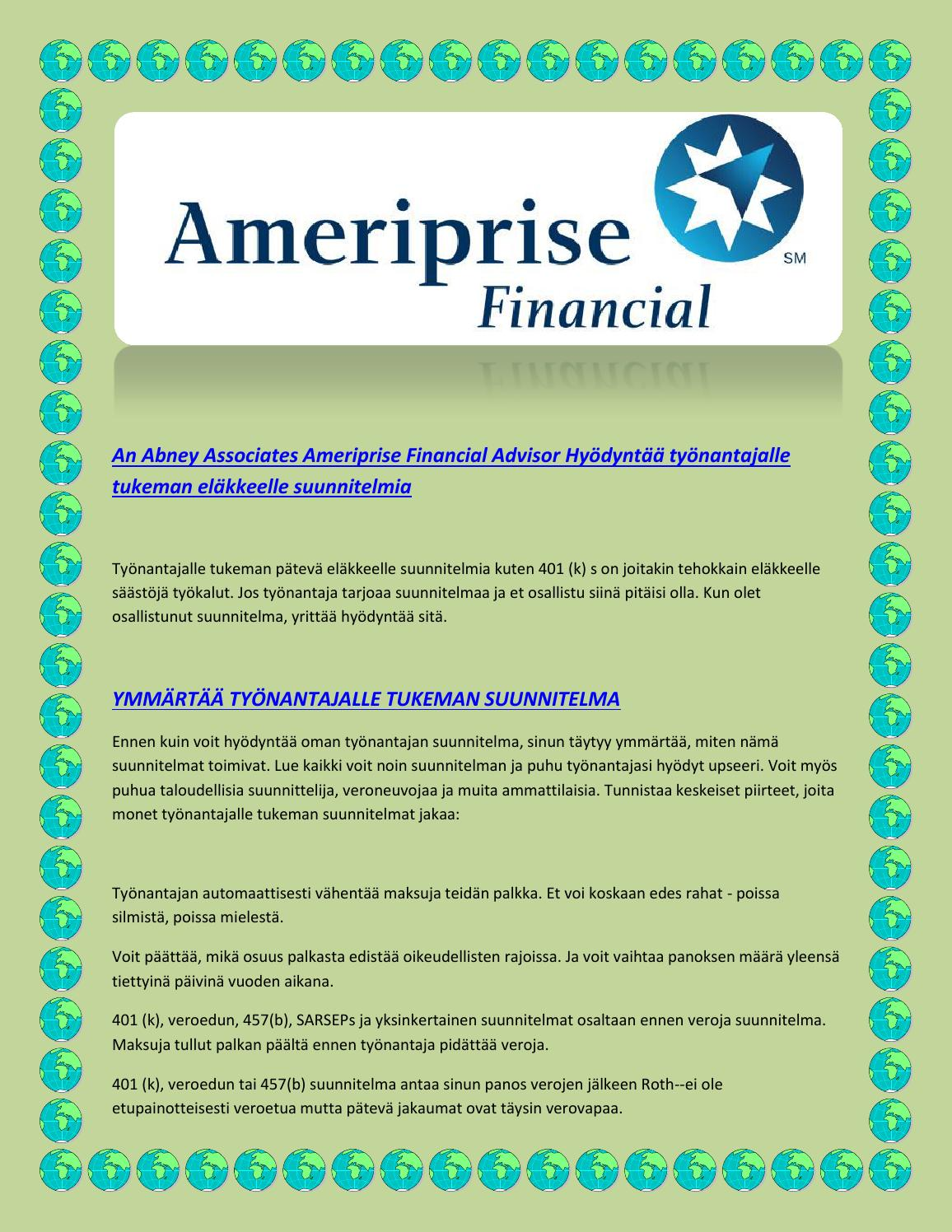 abney associates ameriprise financial advisor merging