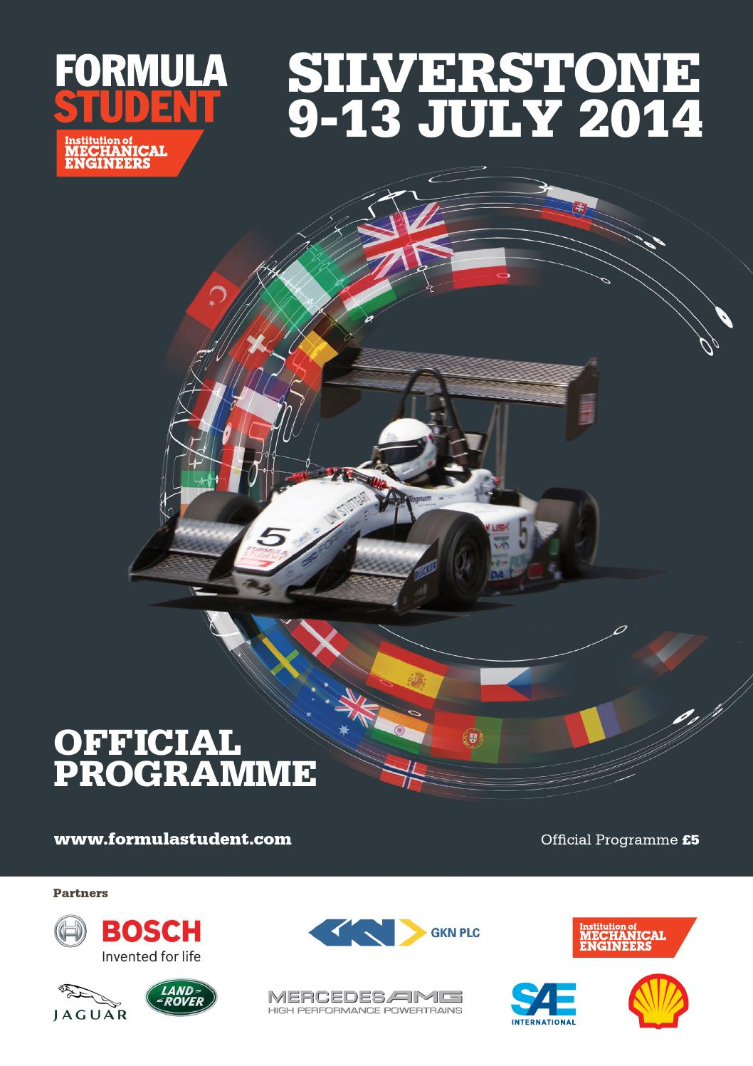 Formula Student 2014 Event Guide by The Chelsea Magazine