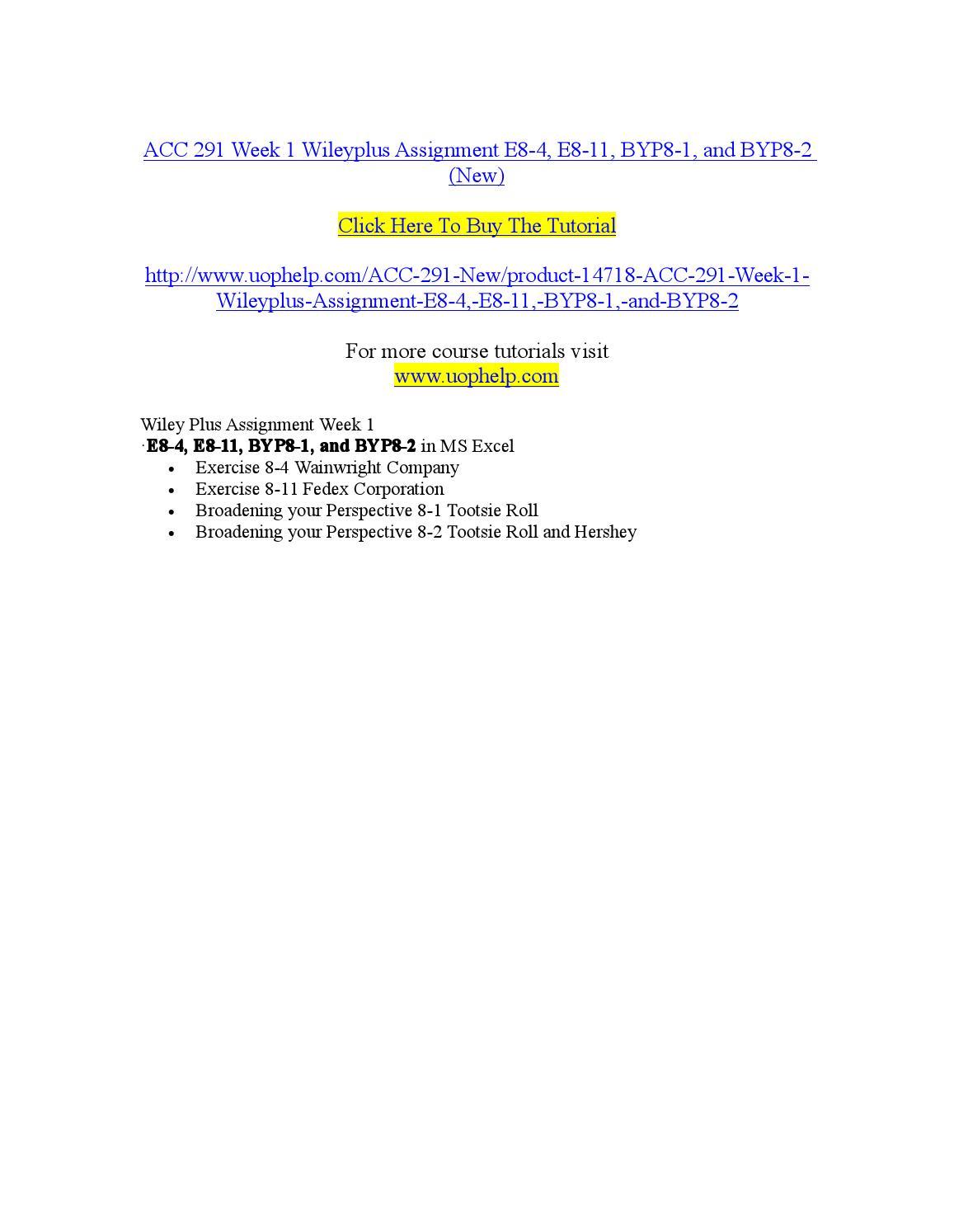 wiley acc 291 week 5 e13 8 Body preview (15 words) your xxx 291 xxxx 5 wiley xxxx assignment is attached xxxxxx xxxxxxx xx xxx xxx queries,thanks file1docx preview (611 words.