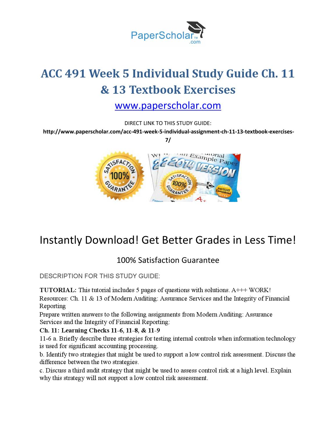 auditing and assurance services homework solutions For homework help with accy 4301 : auditing and assurance services 14th   chapter 18 - solution manual george washington university auditing and.