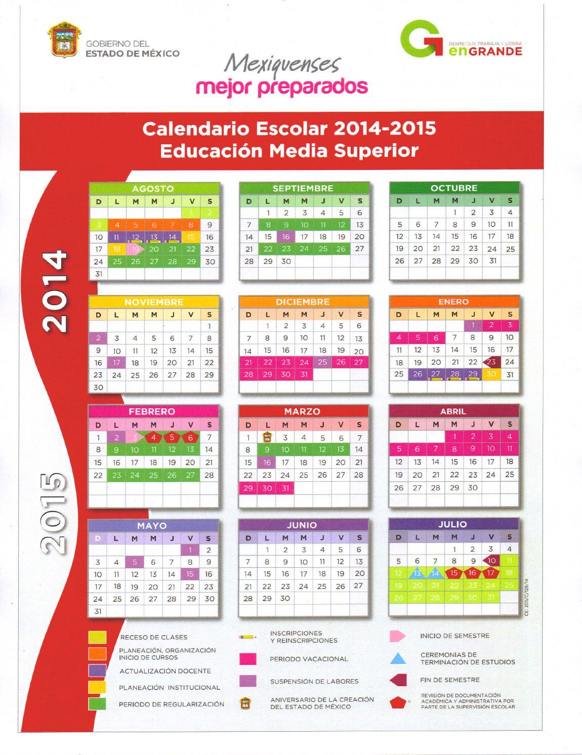 Calendario 2017 Gobierno Del Estado De Mexico