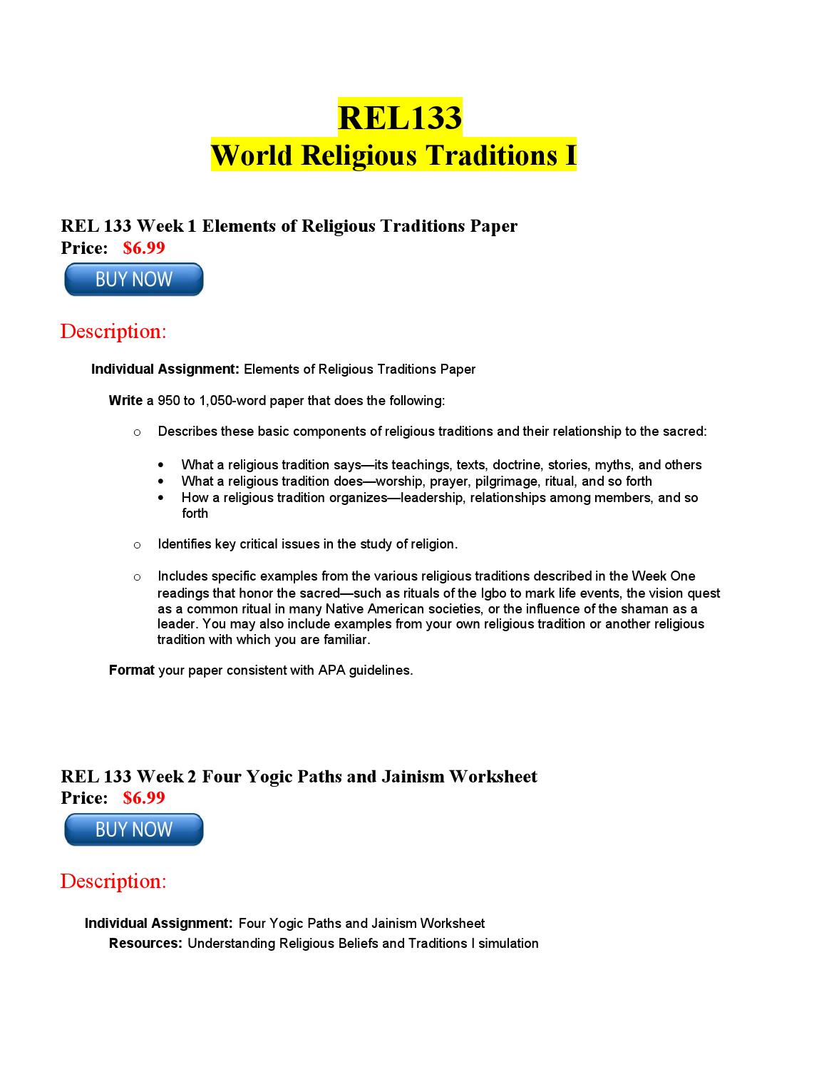 rel 133 week 3 buddhism presentation Rel 133 is a online tutorial store we provides rel 133 week 3 dq 2  rel 133  week 3 learning team assignment buddhism presentation $700 check out.